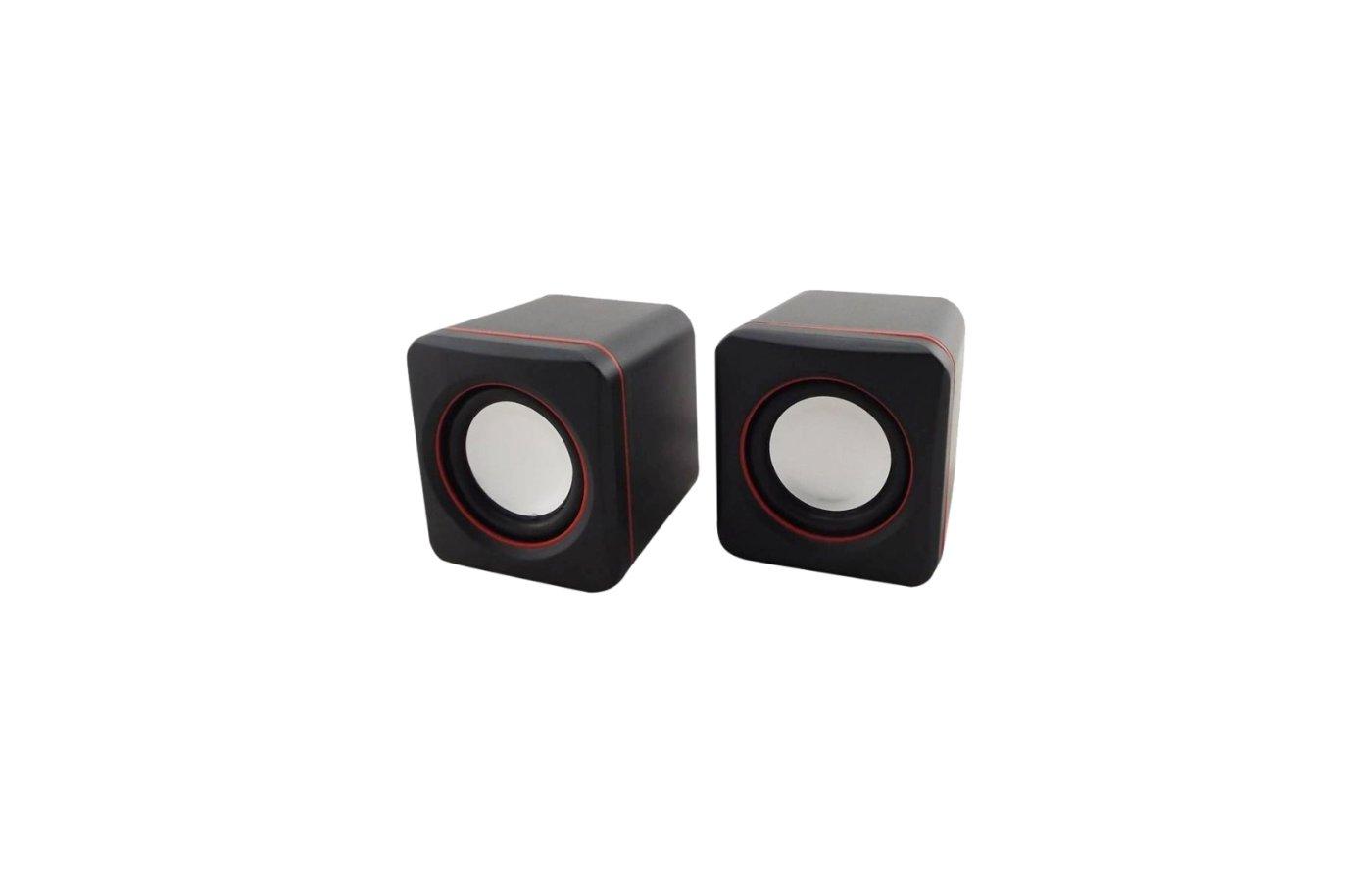 Компьютерные колонки Oklick OK-301 черный/красный 2.5Вт портативные