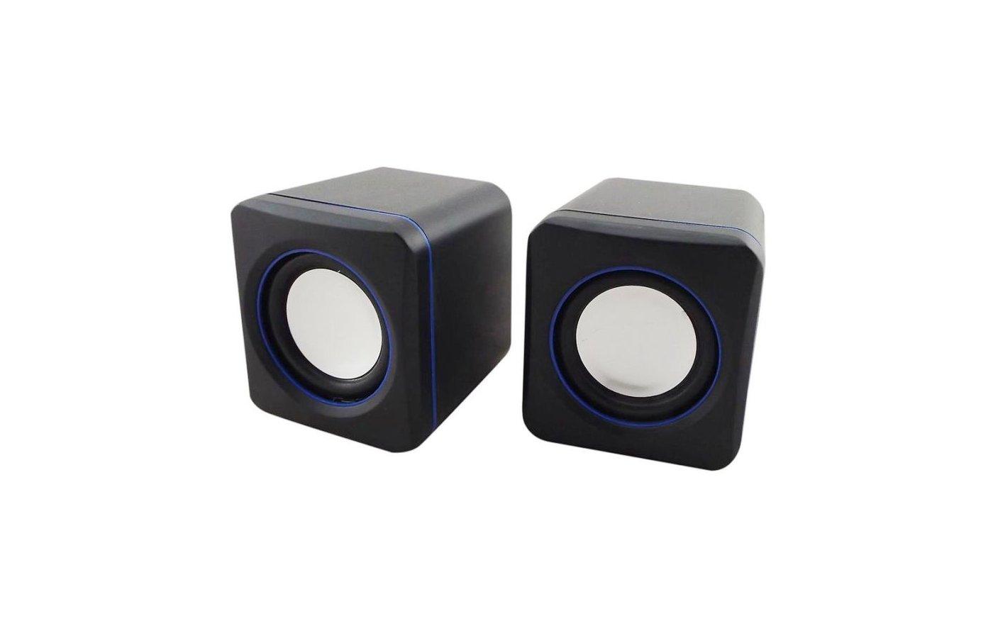 Компьютерные колонки Oklick OK-301 черный/синий 2.5Вт портативные