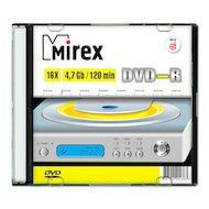 Фото DVD-диск DVD-R Mirex 4.7 Гб 16x Slim case (UL130003A1F)