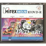 DVD-диск DVD-R Mirex DVD-aRt CINEMA SHOW 4.7 Гб 16x  Портмоне пластик 10 (UL130081A1V)