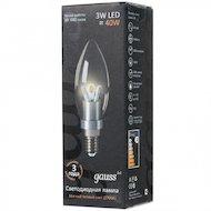 Фото Лампочки LED Gauss LED Candle Crystal clear 3W E14 2700K