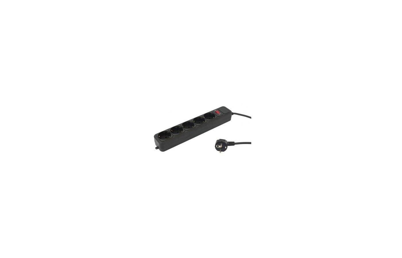 Сетевой фильтр PC Pet AP01006-5-BK 5роз./5м. черный
