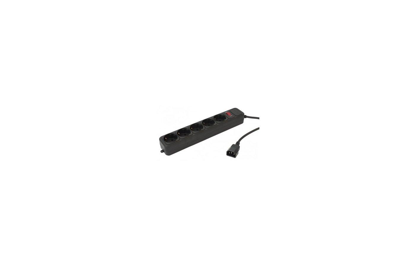 Сетевой фильтр PC Pet AP01006-E-BK 5роз./1.8м. черный
