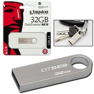 Фото Флеш-диск Kingston 32Gb DataTraveler SE9 DTSE9G2/32GB-YAN USB3.0 серебристый
