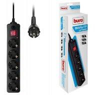 Сетевой фильтр BURO 500SH-3-B 5роз./3м. черный