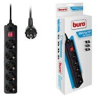 Сетевой фильтр BURO 500SH-10-B 5роз./10м. черный