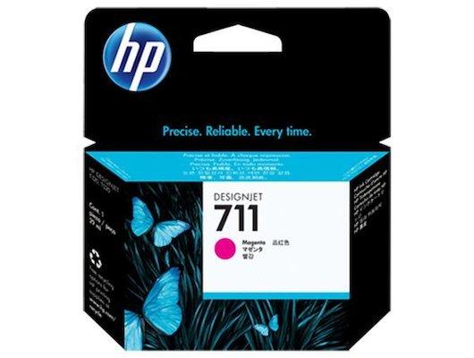 Картридж струйный HP 711 CZ131A пурпурный для HP DJ T120/T520 (29мл)