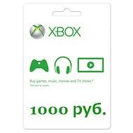 Фото Карта оплаты Xbox LIVE 1000 рублей