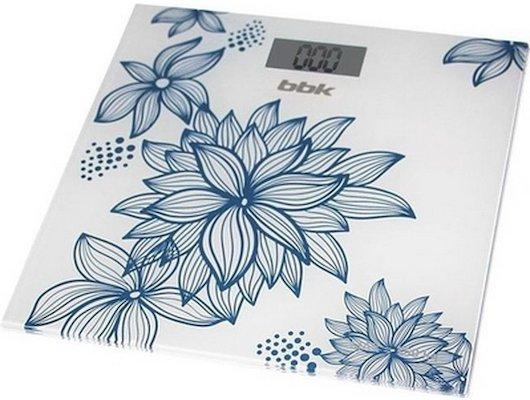 Весы напольные BBK BCS 3000G бел/голубой