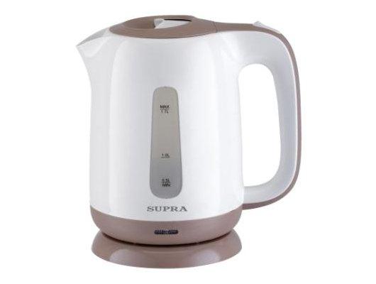 Чайник электрический  SUPRA KES-1724 white/beige