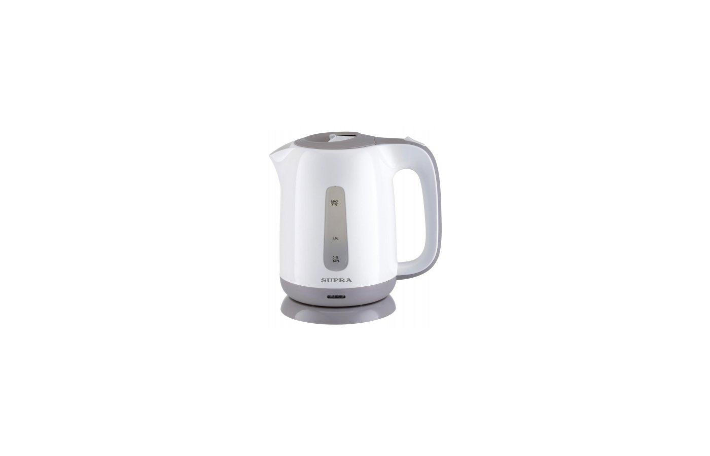 Чайник электрический  SUPRA KES-1724 white/grey