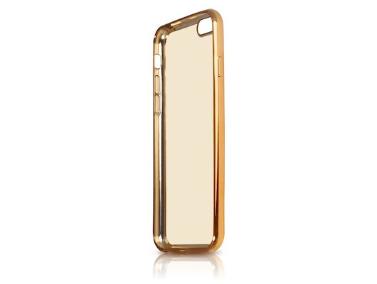 Чехол DF для iPhone 7 (iCase-08) gold с рамкой