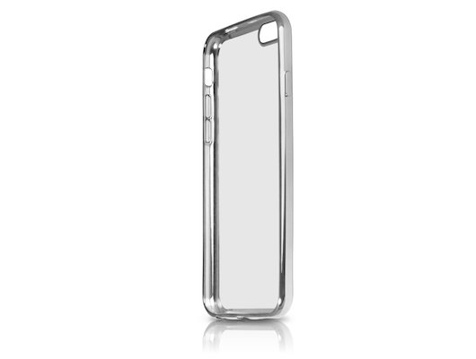 Чехол DF для iPhone 7 (iCase-08) silver с рамкой