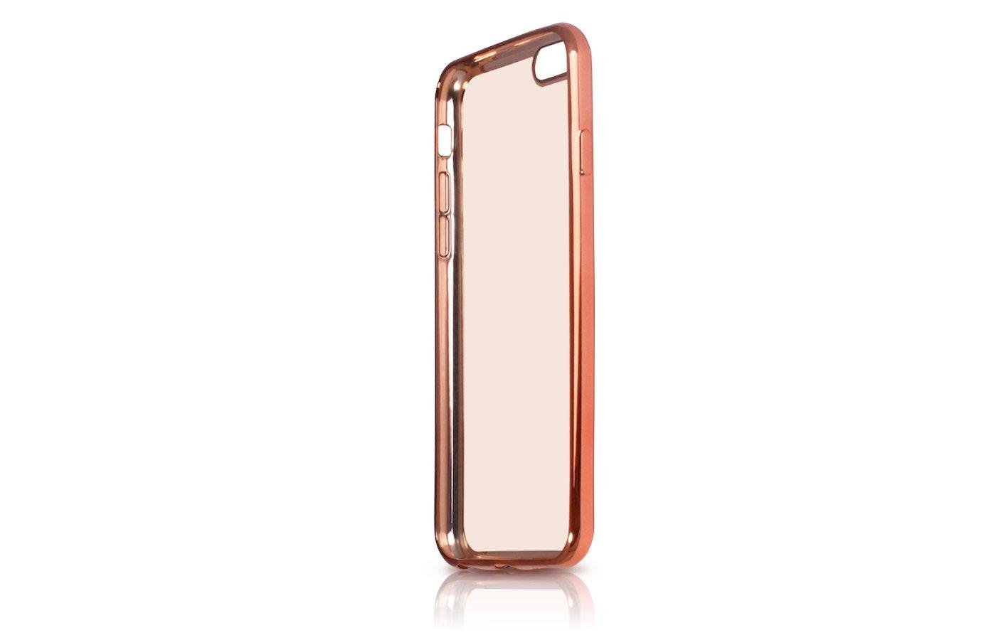 Чехол DF для iPhone 7 (iCase-08) rose gold с рамкой