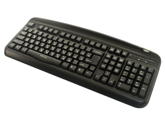 Клавиатура проводная Oklick 300M black (PS/2+USB)+ USB порт