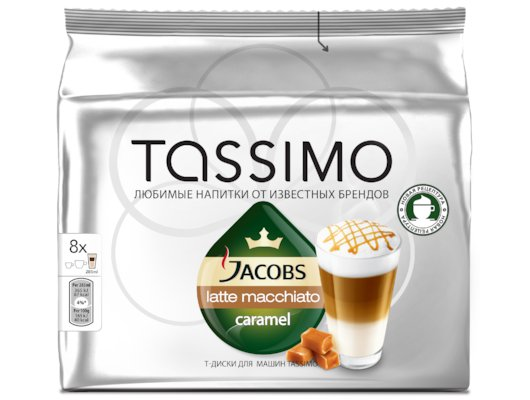 капсулы для кофеварок TASSIMO Латте карамель
