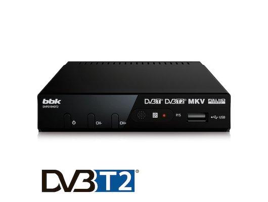 DVB-T2 ресивер BBK SMP019HDT2 черный