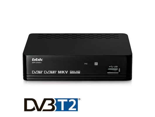 DVB-T2 ресивер BBK SMP124HDT2 dark gray