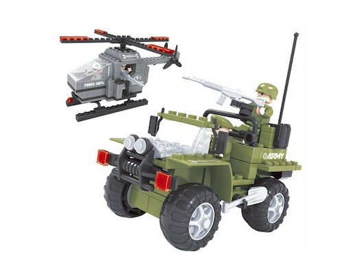 Конструктор AUSINI 22507 Армия. Набор техники