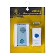 Фото Дверной звонок FORZA 924-029 Звонок беспроводной 32 мелодии 3.0VDC(2x1.5VAA) с водонепроницаемой кнопкой D001