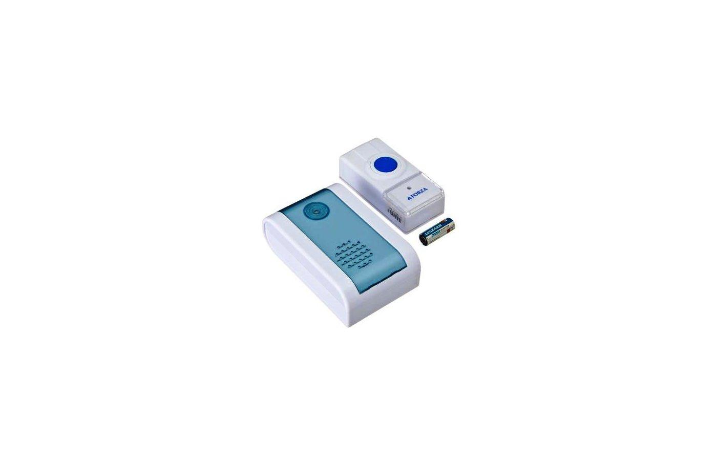 Дверной звонок FORZA 924-029 Звонок беспроводной 32 мелодии 3.0VDC(2x1.5VAA) с водонепроницаемой кнопкой D001