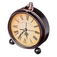 Будильник 529-070 Будильник электронный, металл, стекло, 16х13,5х4,5см, 2хАА