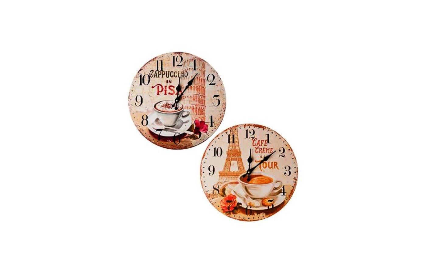 Часы настенные 581-469 Часы настенные Чашка кофе МДФ d34см батарейка 1xАА
