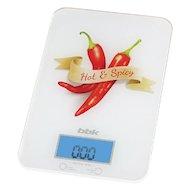 Весы кухонные BBK KS 106G бел/красный