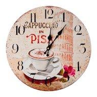 Фото Часы настенные 581-469 Часы настенные Чашка кофе МДФ d34см батарейка 1xАА