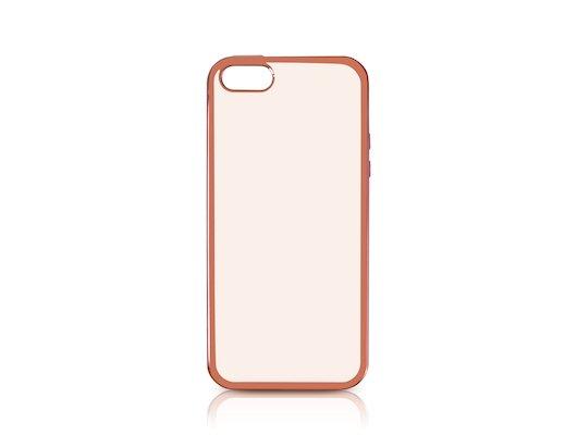 Чехол DF для iPhone 5/5S/SE (iCase-01) rose gold с рамкой