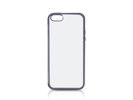 Чехол DF для iPhone 5/5S/SE (iCase-01) space gray с рамкой