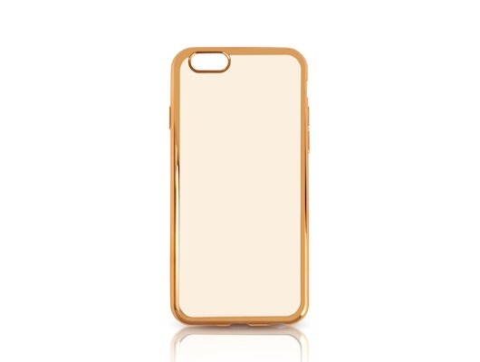Чехол DF для iPhone 6/6S (iCase-02) gold с рамкой