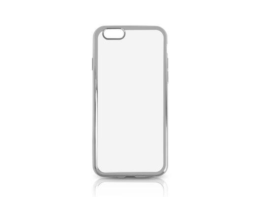 Чехол DF для iPhone 6/6S (iCase-02) silver с рамкой