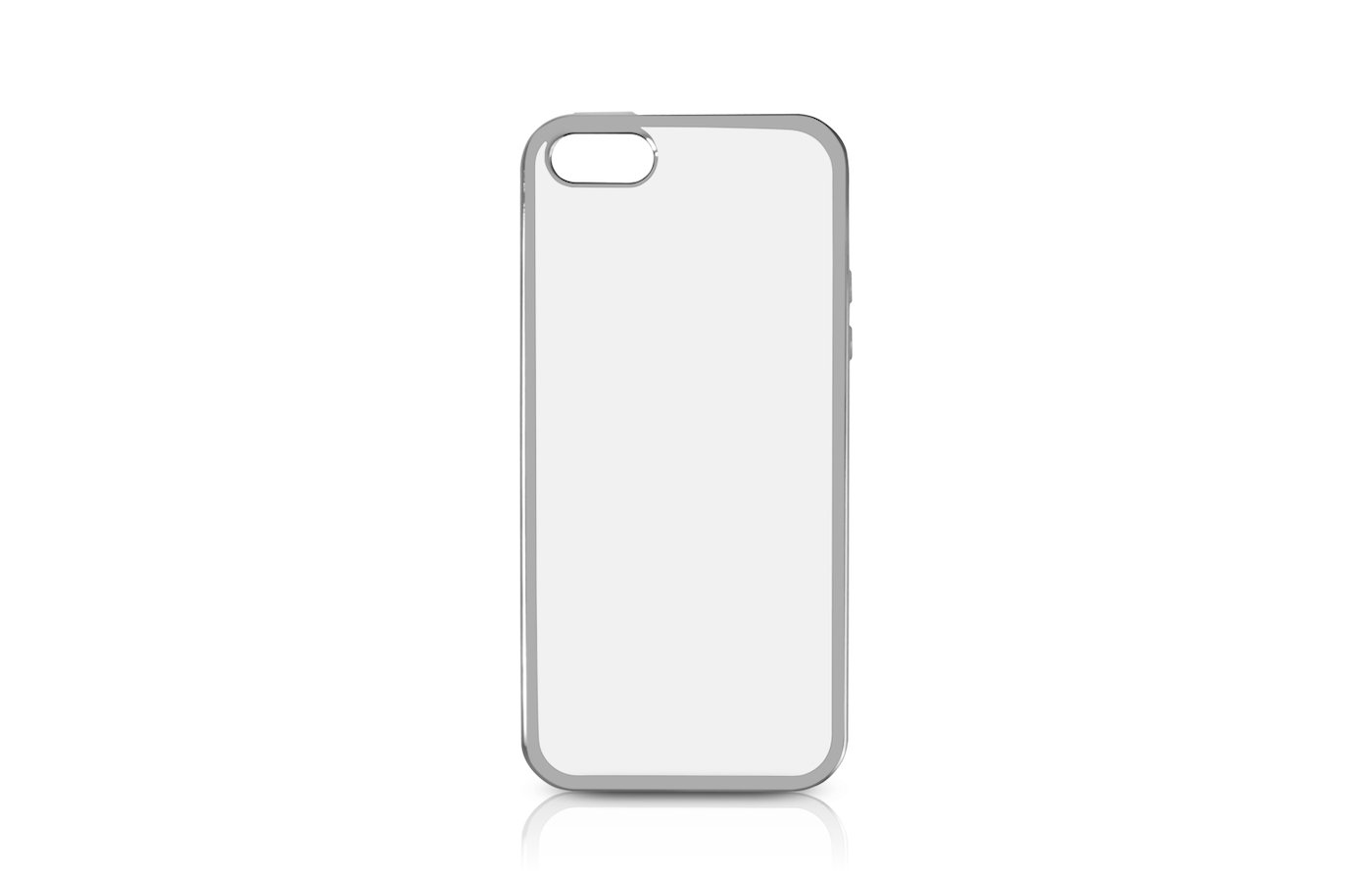 Чехол DF для iPhone 5/5S/SE (iCase-01) silver с рамкой