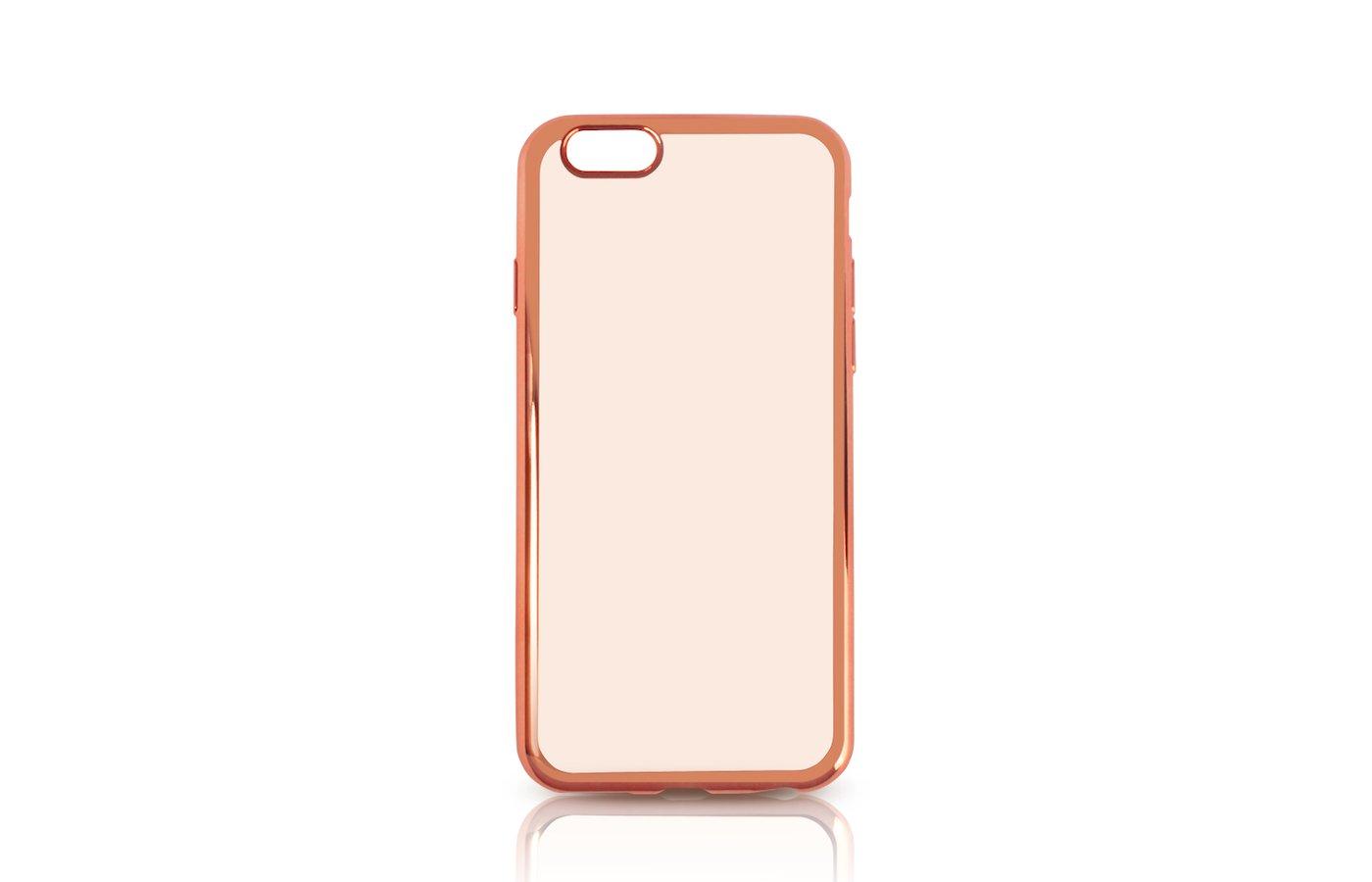 Чехол DF для iPhone 6/6S (iCase-02) rose gold с рамкой