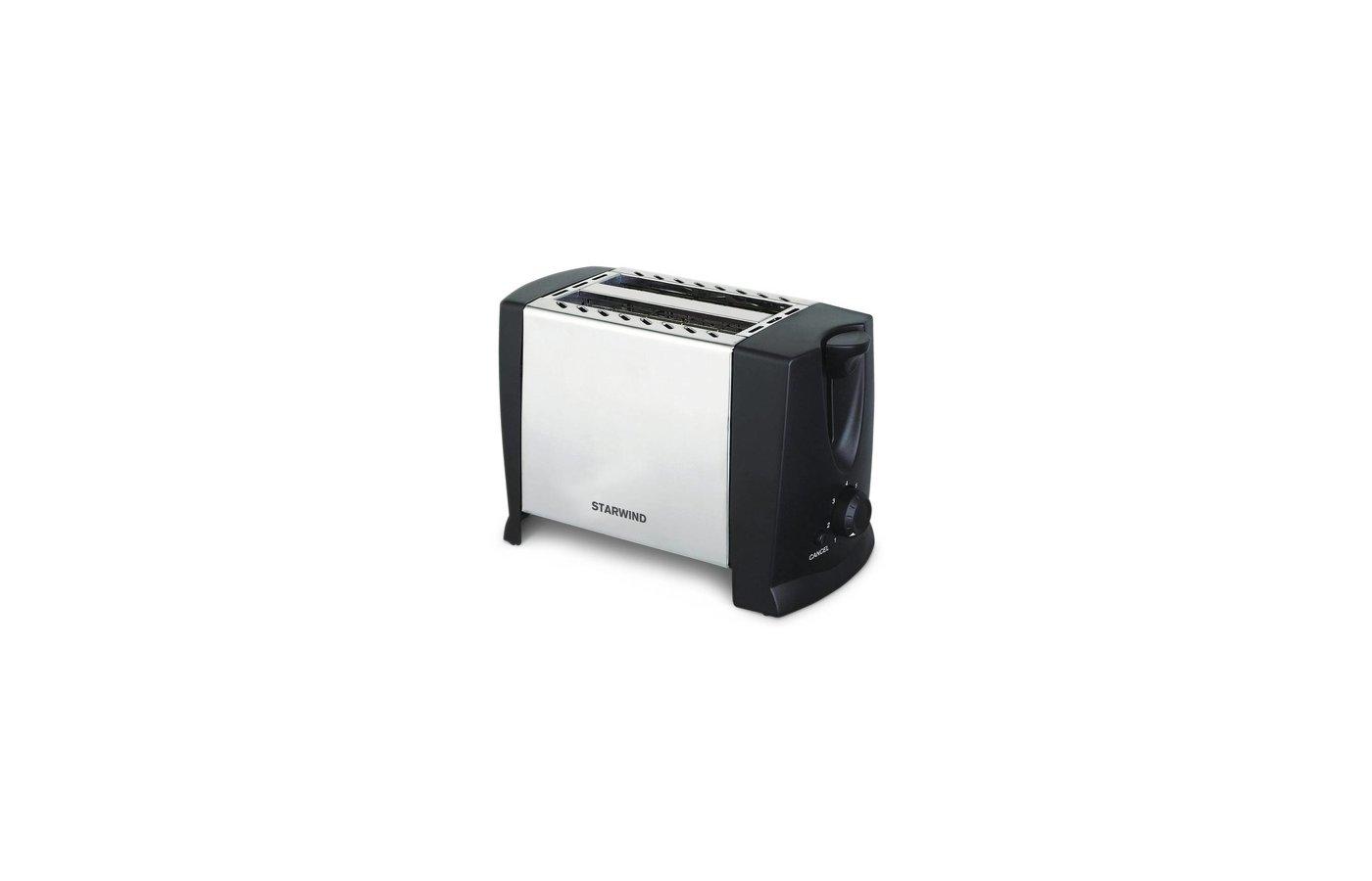 Тостер StarWind SET 1576 черный/серебристый