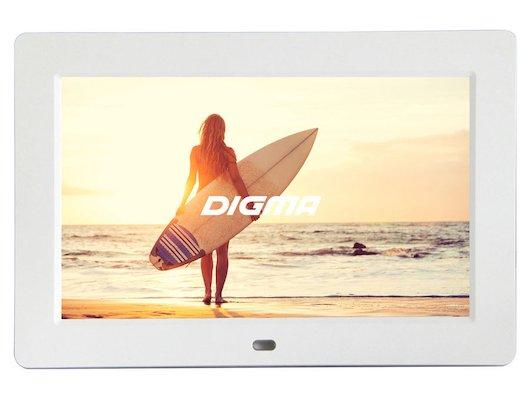 Цифровая фоторамка Digma 10.1 PF-1033 1024x600 белый пластик ПДУ Видео