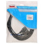 Фото Кабель питания BURO AN23-1008-5 IEC320-C13/IEC320-C14 удлинитель кабеля питания 5м