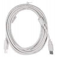 USB Кабель BURO USB 2.0 A(m) - B (m) 5м феррит.кольца (817262)