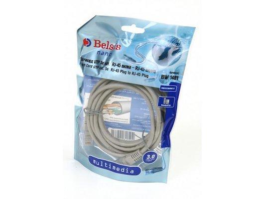 Сетевой кабель BELSIS BW 1481 патчкорд 3м