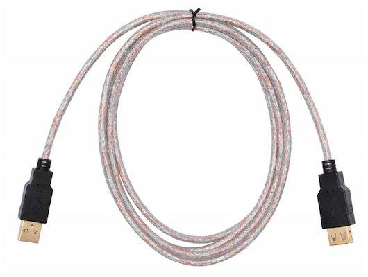 USB Кабель BURO USB 2.0 A(m) - A(f) Кабель-удлинитель 1.8м. Позолоченные контакты. Прозрачный (817266)