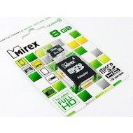 Карта памяти Mirex microSDHC 8Gb Class 10 + адаптер