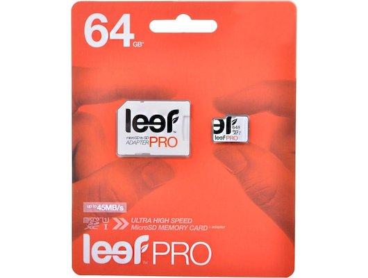 Карта памяти LEEF microSDXC 64Gb PRO Class 10 + адаптер (LFMSDPRO-06410R)