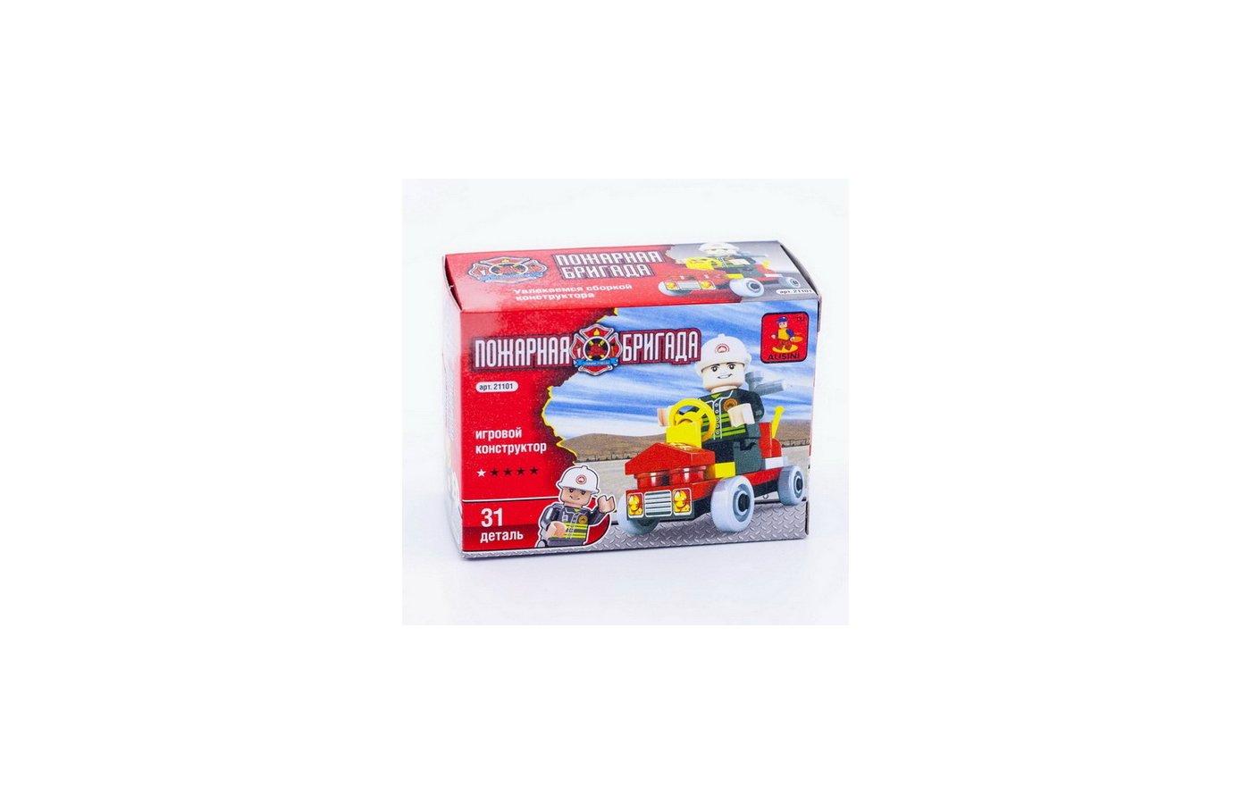 Конструктор AUSINI 21101 Пожарная бригада Автомобиль 31дет.