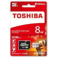 Карта памяти Toshiba microSDHC 8Gb Class 10 + адаптер (THN-M301R0080EA)