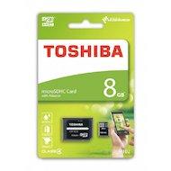 Карта памяти Toshiba microSDHC 8Gb Class 4 + адаптер (THN-M102K0080M2)