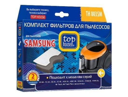 Фильтр для пылесоса TOP HOUSE 392838 TH 003SM Комплект фильтров для пылесосов SAMSUNG, 2 шт.