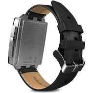Фото Смарт-часы Pebble SmartWatch Steel серебристые кожаный ремешок