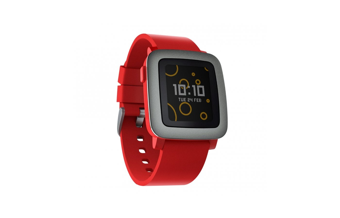 Смарт-часы Pebble Time красные