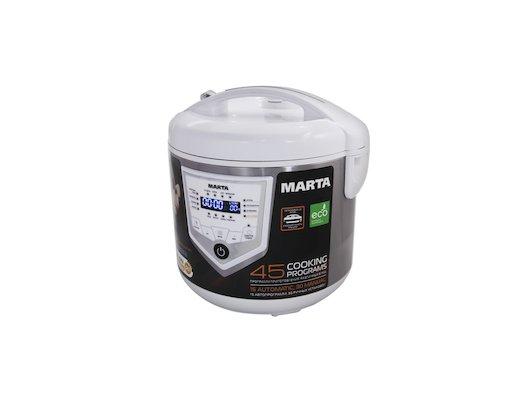 Мультиварка MARTA MT-4301 белый/сталь
